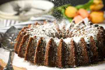 carrot cake with brandy
