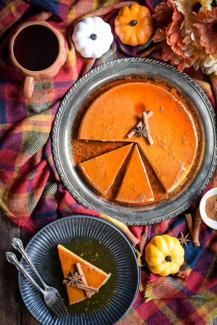 pumpkin spice flan hungrytravelingmama
