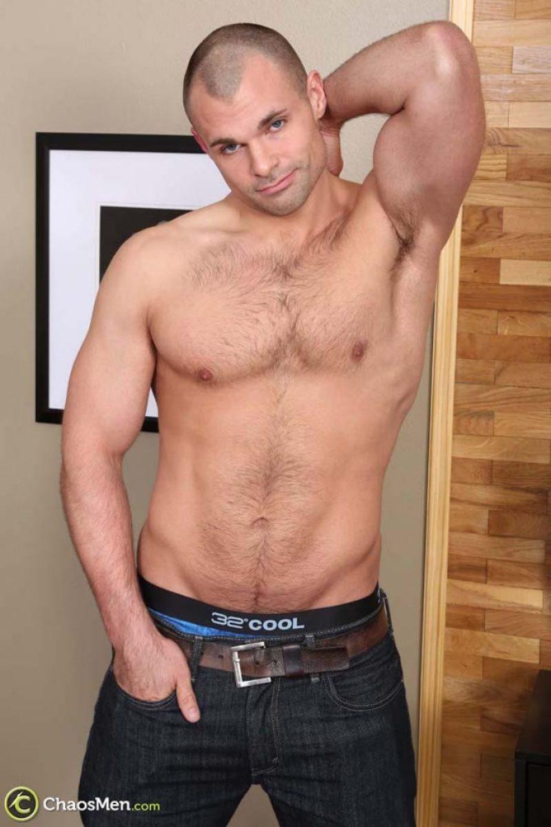 Hairy jock in gay porn