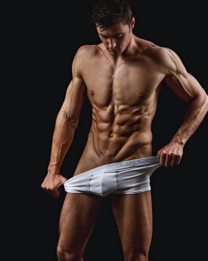 Sexy jock model Matt Holdener in his underwear