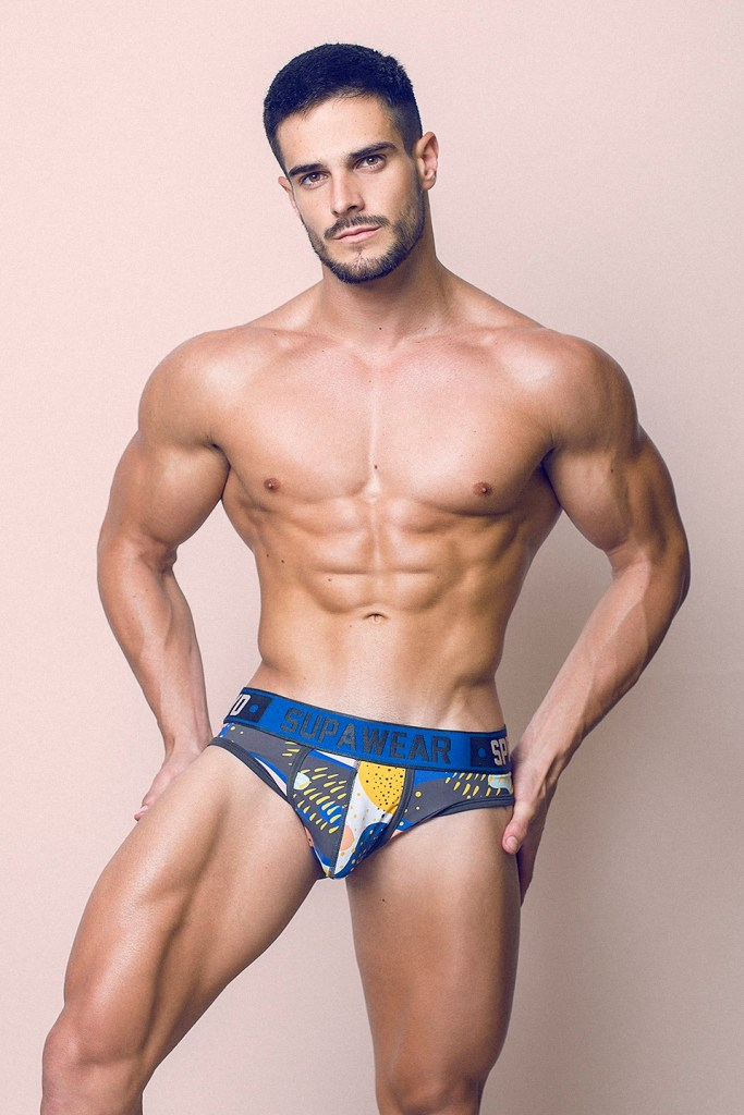 Underwear bulge with muscled model Jorge Cobian