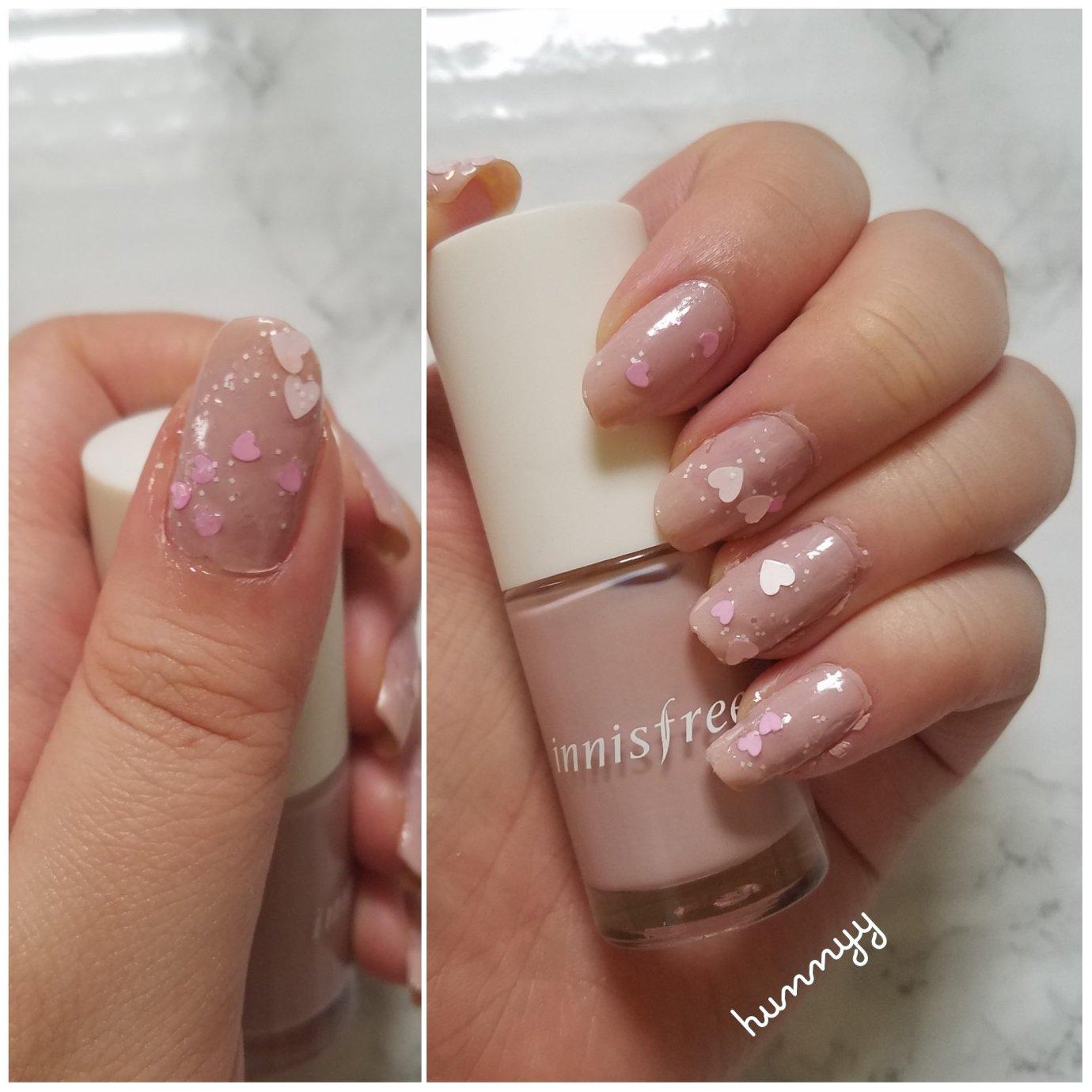 ::Nails:: Muted Hearts! hunnyy