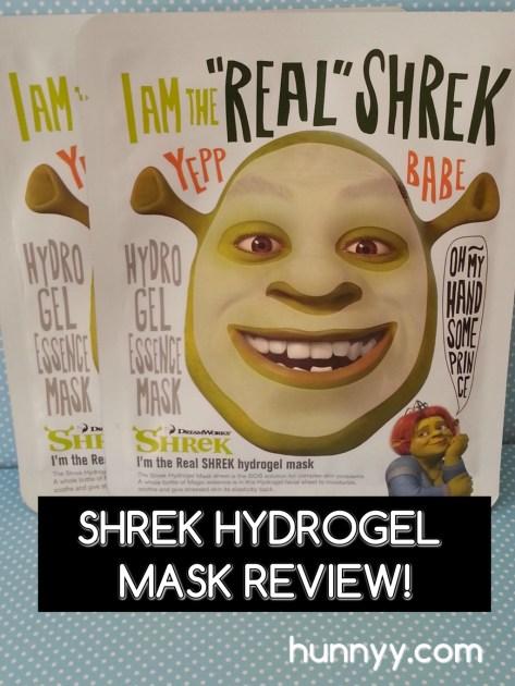 ::REVIEW:: Dreamworks Shrek Hydrogel Mask!