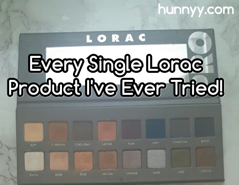 Every Single Lorac Product I've Ever Tried!