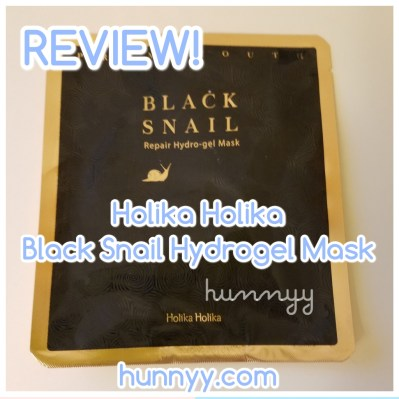 ::REVIEW:: Holika Holika - Black Snail Hydrogel Mask! hunnyy.com