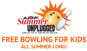 AMF Summer Unplugged 2012 FREE Bowling For Kids at AMF ALL Summer Long