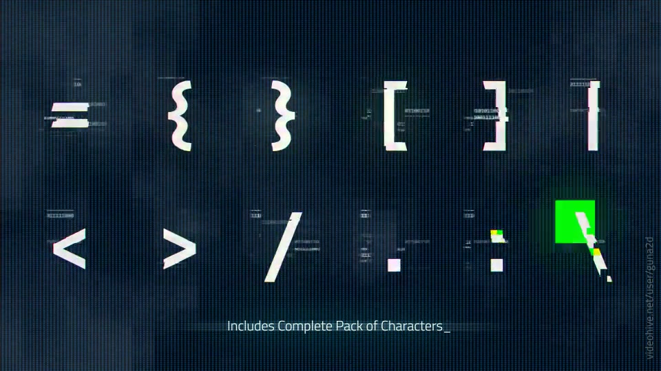 Download Digital Distortion Animated Font Pack with Tool Videohive ...
