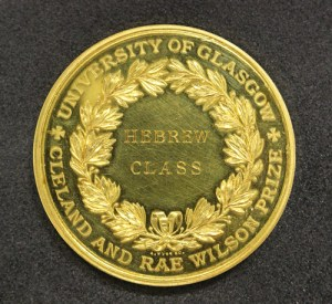 Obverse of gold prize medal.