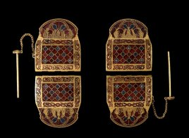 two shoulder clasps side by side
