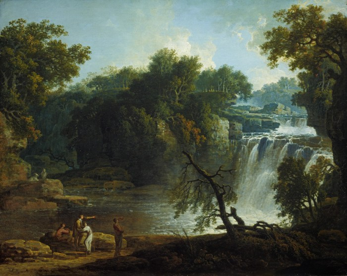 Jacob More, A View of Corehouse Linn, on the River Clyde near Lanark, 1771, oil on canvas, © National Galleries of Scotland.