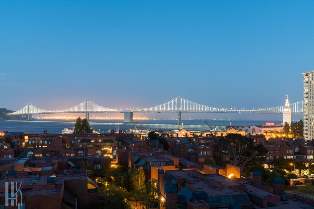 Bay Bridge Twilight San Francisco
