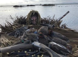 Snapped this photo with one bird to go. Ended up with 13 teal and a wigeon.