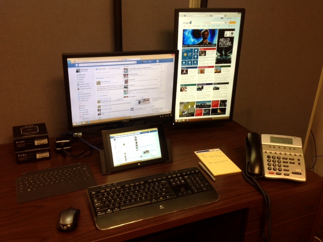 The Final Set-up for our Microsoft Surface Pro