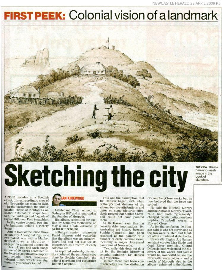 Newcastle Herald 23 April 2009 p.5