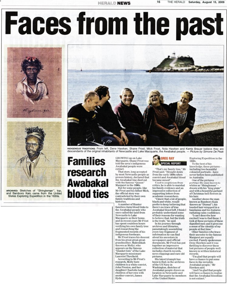 Faces from the past: Families research Awabakal blood ties