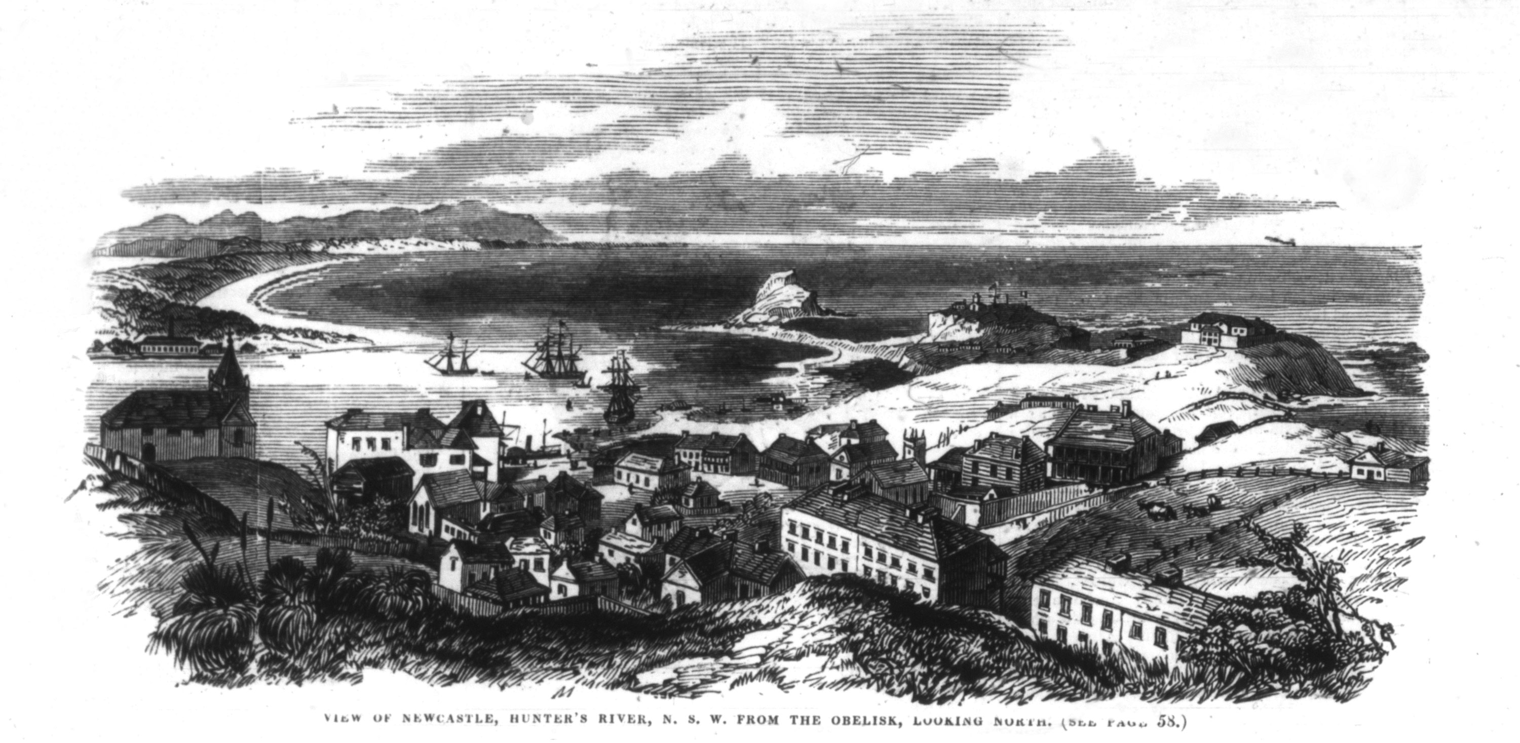 Newcastle (From The Illustrated Sydney News 26th November 1853 p.60)