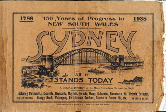 "Cover of ""Progressive Sydney as it stands today"" (1938)"