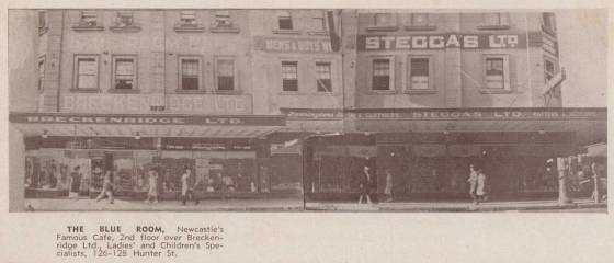 The Blue Room, Newcastle's Famous Cafe (1938)