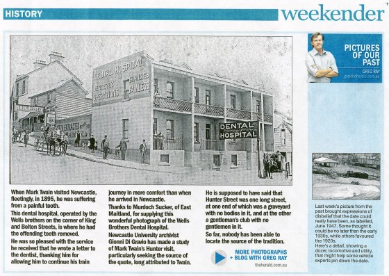 Wells Dental Hospital - Newcastle Herald 20 July 2013 Weekender p.15