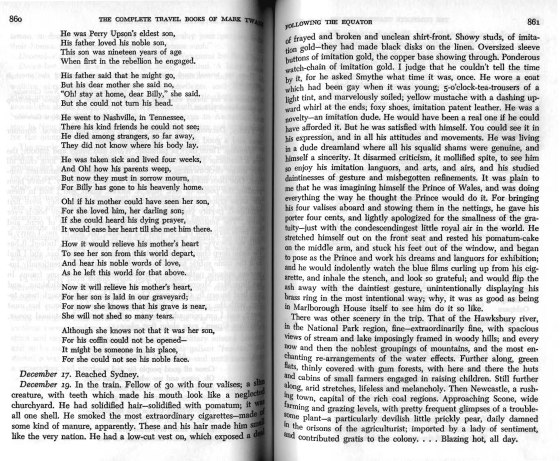 Twain, Following the Equator, pp. 860-861