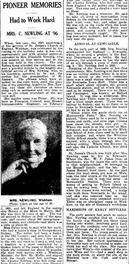 Newcastle Morning Herald & Miners' Advocate, 25th July 1931, p.14 (Thanks to Lynette Hutchings)