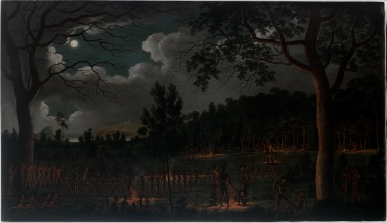 [Corroboree at Newcastle / oil painting by Joseph Lycett] Courtesy of State Library of NSW