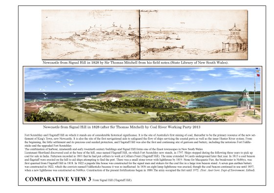 Sir Thomas Mitchell's 1828 sketch rendered by Charles Martin 2013.