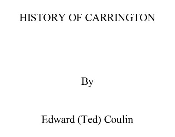 History of Carrington Title Page