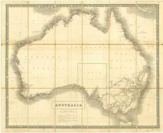 Australia [Map] Drawn and Engraved by W. & A.K. Johnston. [c.1840]