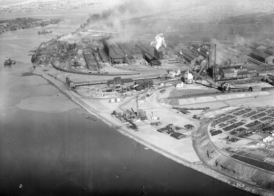 Newcastle aerial, 1935 (Image 63 Courtesy of Phillip Warren)