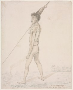 Ca la watum Ba a native of the Coal River [1810-1822]. Shows hair adornment.
