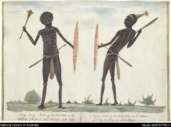 Browne, Richard, Ninge Ninge and Nigral, 1811. National Library of Australia.