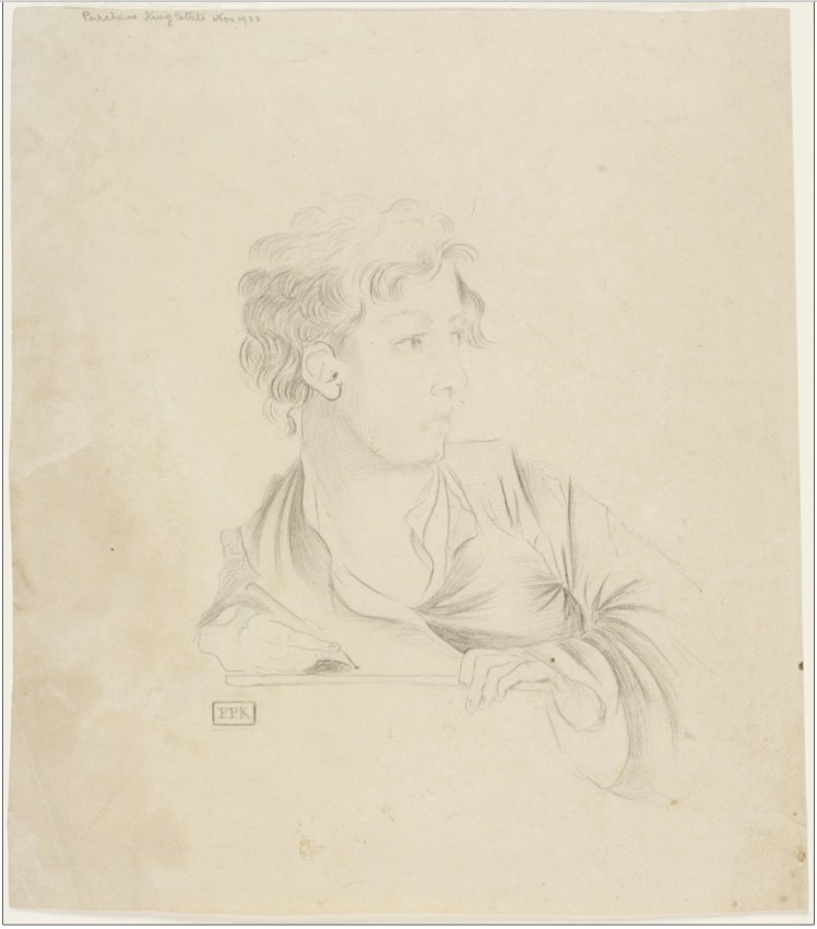 18. [Pencil sketch of a young man]. Signed `P P K' at lower left. (Courtesy of State Library of NSW)