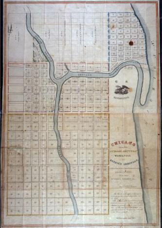 Chicago Map- Joshua Hathaway (1834)
