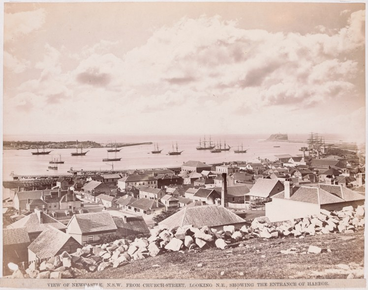 View of Newcastle from Church Street (H141545-Courtesy of the State Library of Victoria)