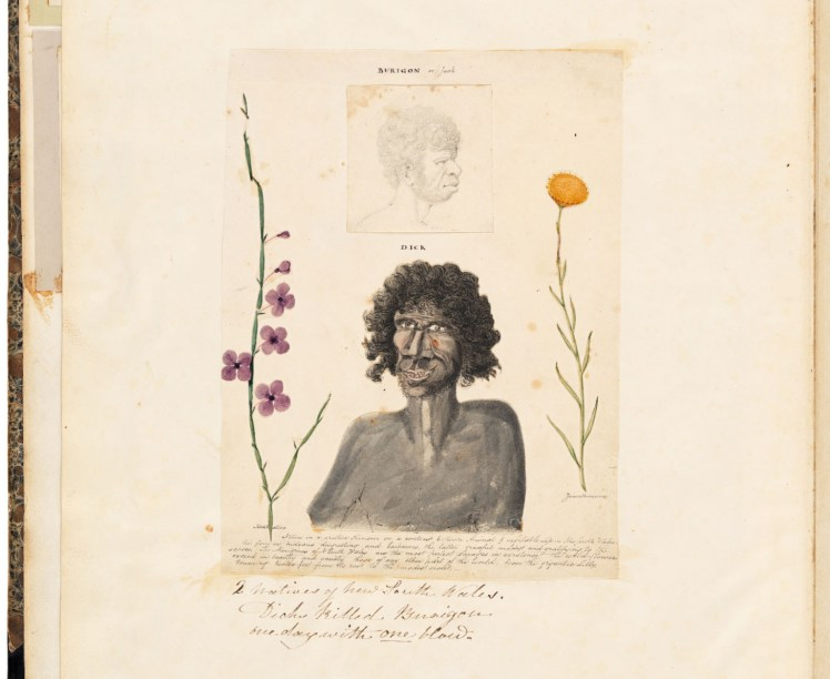 Burigon or Jack and Dick, from the Wallis Album (Courtesy of the State Library of NSW)