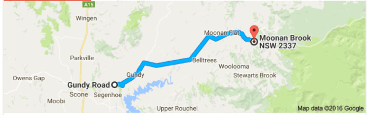 Gundy Road to Moonan Brook