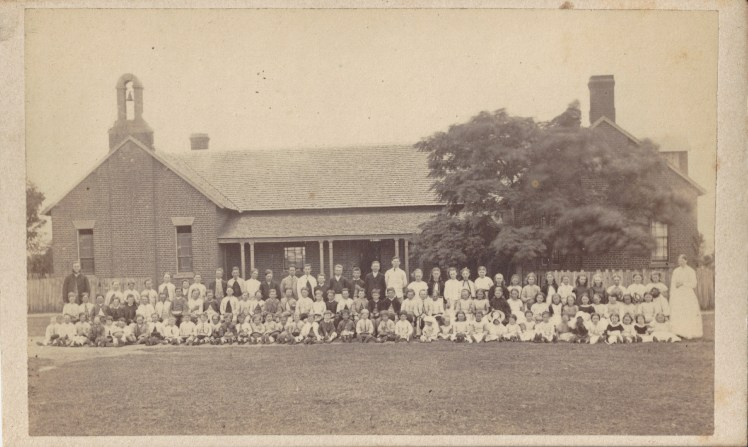 Newcastle School, circa 22 October - 1 December 1870. Photo Credit: Photographed by Beaufoy Merlin (No.51977) Digitised by Anne Glennie from the Glennie Family Albums)