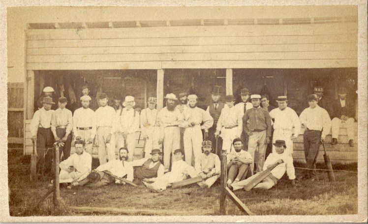 Newcastle Cricket Team, October 1870. Photo Credit: Photographed by Beaufoy Merlin. Digitised by Anne Glennie from the Glennie Family Albums)
