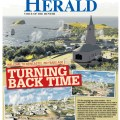 """Turning Back Time"" Front Page of Newcastle Herald, Thursday April 20, 2017."