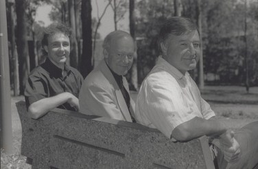 Godfrey, Bernie and Penglase Sitting on bench