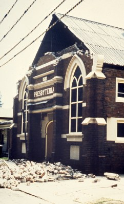 Damaged Presbyterian Church