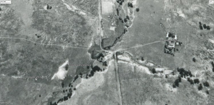 Aerial photo 1967 overlay (CAMBERWELL-01-1967-R005C-1481-5197)- evidence earlier house