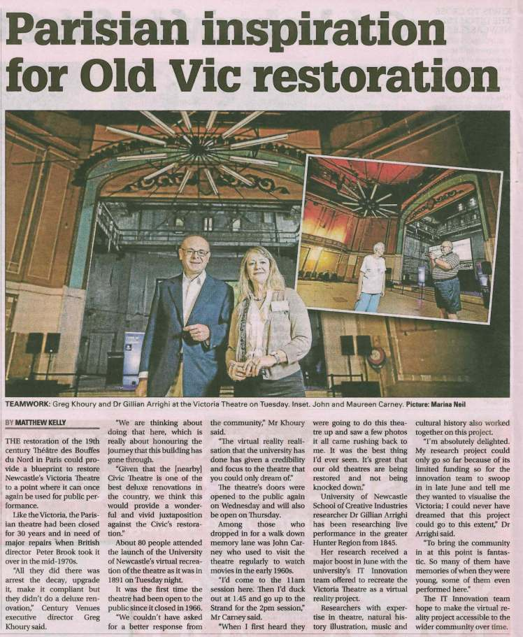 Victoria Theatre - Newcaslte Herald 15 No 2018