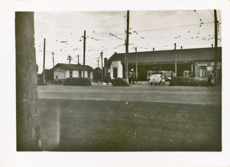 Photo of the old depot at Hamilton, photo was taken at same time as APC007 but shows building at another angle.