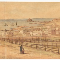 Newcastle in 1849 By John Rae. Courtesy of the Dixson Galleries, State Library of New South Wales.