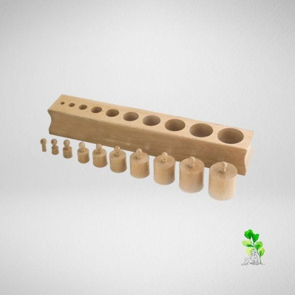 HuntersWoodsPH Checklist Sensorial Montessori Materials Toddler Preschool Cylinder Block 1