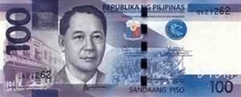 Philippine Money 100 Peso Bill