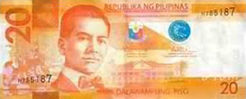 Philippine Money 20 Peso Bill
