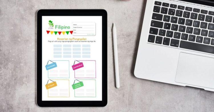 HuntersWoodsPH Montessori Filipino Worksheets Kasarian ng Pangngalan